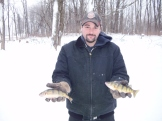 Mike with 2 nice Perch