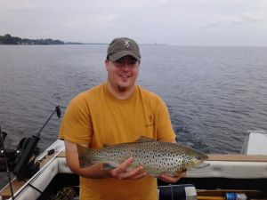 A nice brown trout caught in Mexico Bay on Lake Ontario